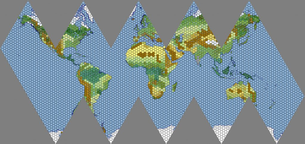 Icosahedral World Map