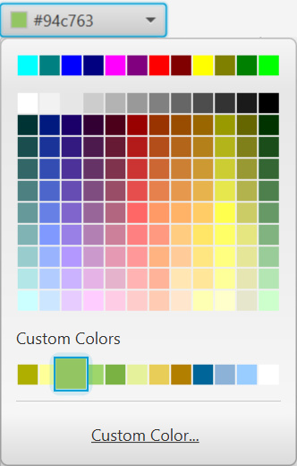 Color picker swatches.