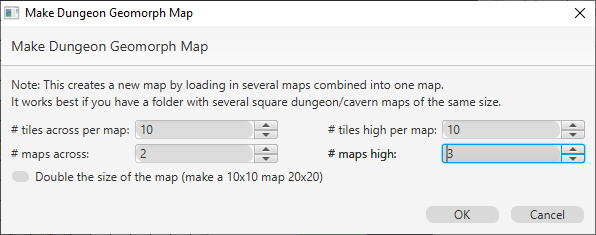 Make Dungeon Geomorph Map Dialog