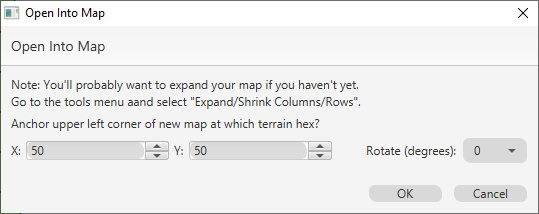Open Into this Map Dialog