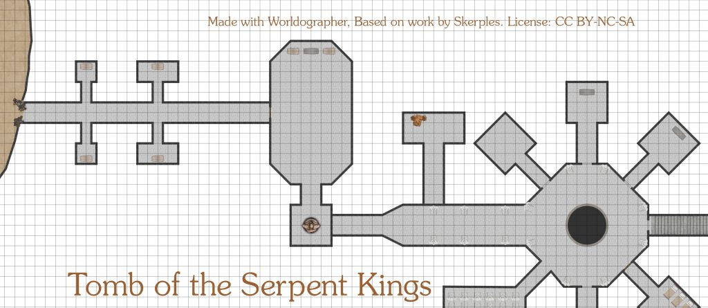 Tomb of the Serpent Kings partial map.