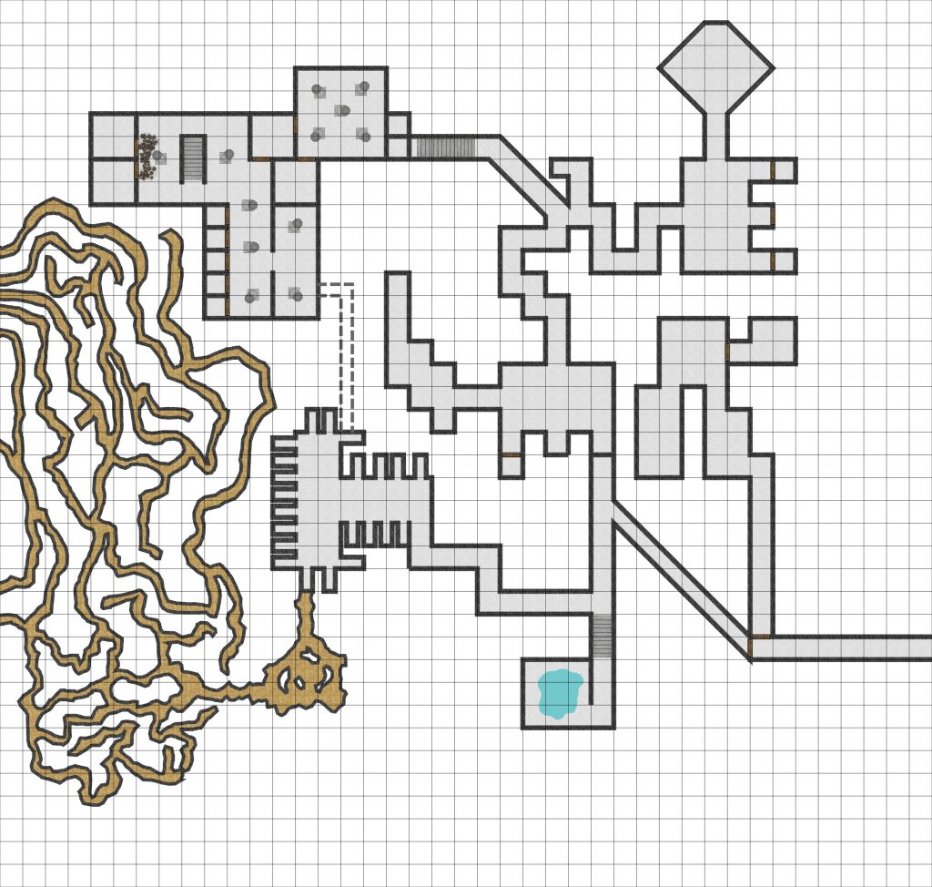 Moat House Dungeon 70 pixels/square.